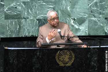 S. N. Goenka at U.N.